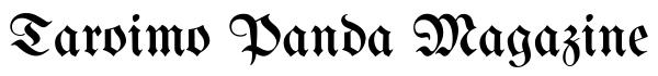 Taroimo Panda Magazine